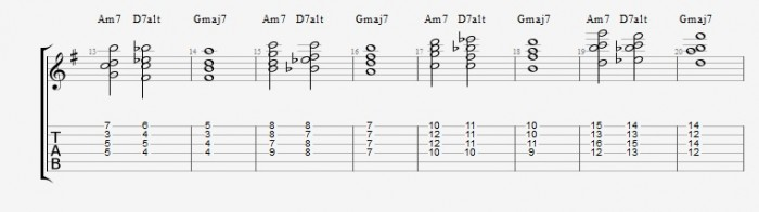 Drop 2 voicings part 2 - ex 2