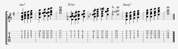 Drop 2 voicings part 2 - ex 3
