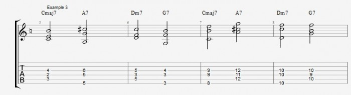 Jazz Chord Essentials - Shell voicings graphics  - ex 3