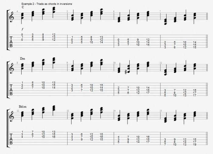 Jazz Chord Essentials - Triads - ex 2