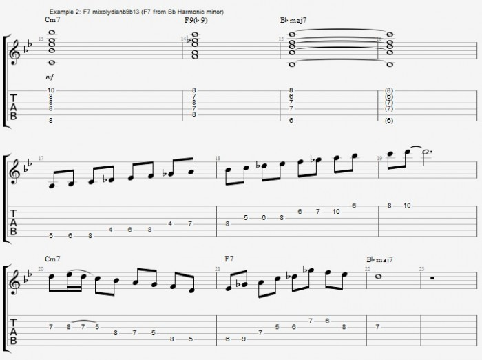 Dominant 7th Scales - Part 1 - ex 2