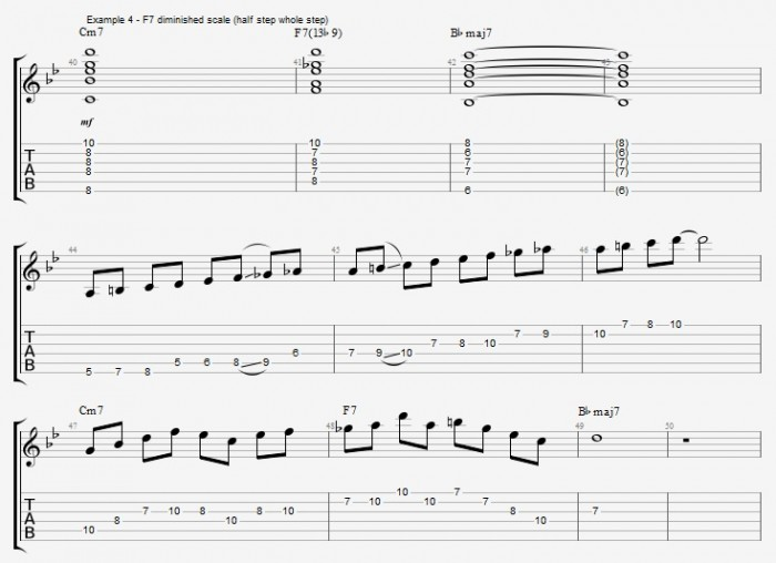 Dominant 7th Scales - Part 1 - ex 4
