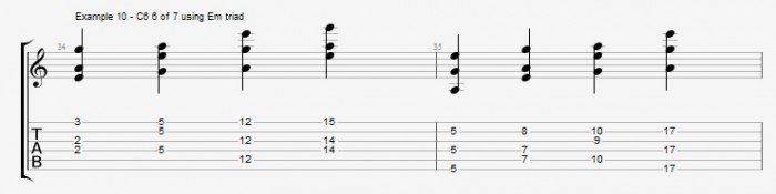 Jazz Chord Essentials - Open Triads Ex 10
