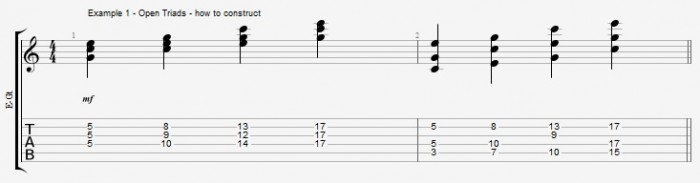 Jazz Chord Essentials - Open Triads Ex 1
