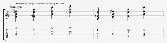 Jazz Chord Essentials - Open Triads Ex 9