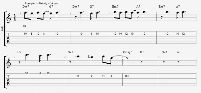 Chord Melody for Guitar - part 1 ex 1