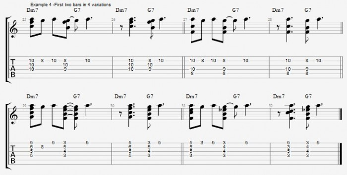 Chord Melody for Guitar - part 1 ex 4