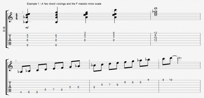 Melodic Minor - Lydian Dominants - ex 1