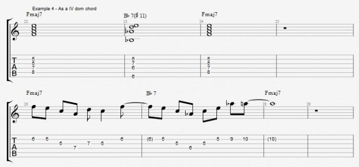 Melodic Minor - Lydian Dominants - ex 4
