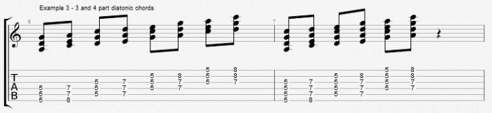 Diatonic chords in pentatonic scales ex 3