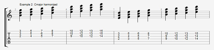 Jazz Chord Essentials - 3 part Quartal Harmony Ex 2