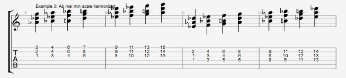 Jazz Chord Essentials - 3 part Quartal Harmony Ex 3