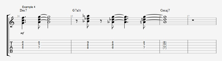 Jazz Chord Essentials - 3 part Quartal Harmony Ex 4