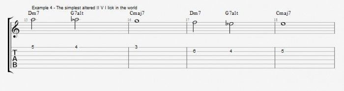 Melodic Minor - Altered Scale - ex 4