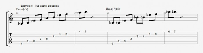 Melodic Minor - Altered Scale - ex 5