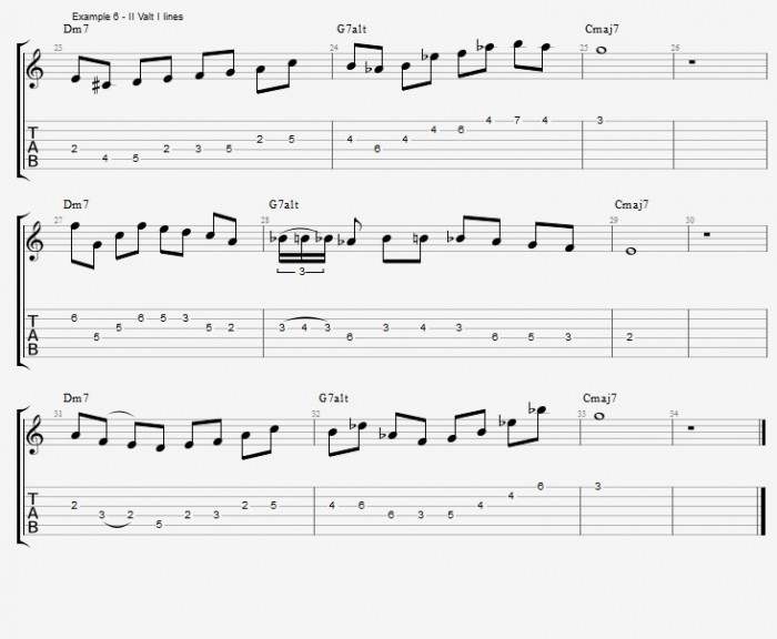 Melodic Minor - Altered Scale - ex 6