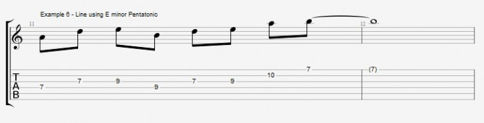 Pentatonics part 1 - Maj7 Chords Ex 6