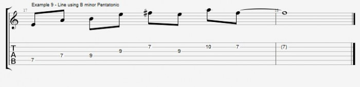 Pentatonics part 1 - Maj7 Chords Ex 9