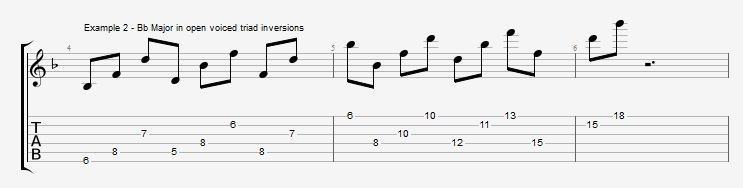 Open Triads in Solos - example 2