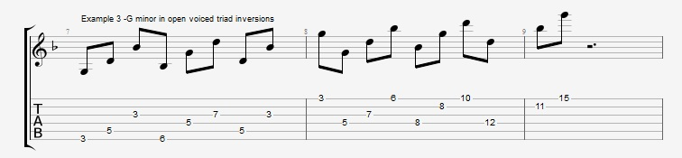 Open Triads in Solos - example 3
