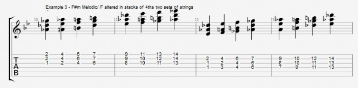 Quartal Harmony in Solos ex 3