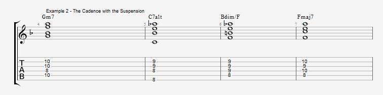 #IVdim suspension of the I chord ex 2