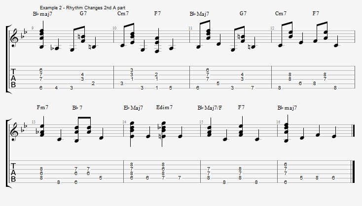 Chords and Walking Bass lines - part 2 - ex 2