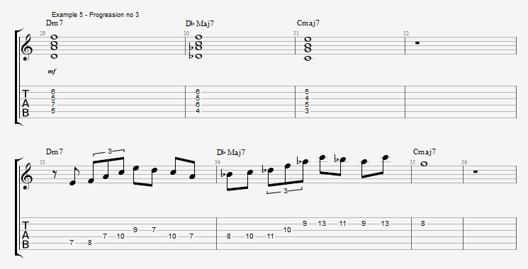 IV minor chords ex 5