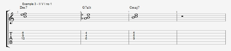 Jazz Chord Essentials - 3 note 7th chords part 1 ex 3