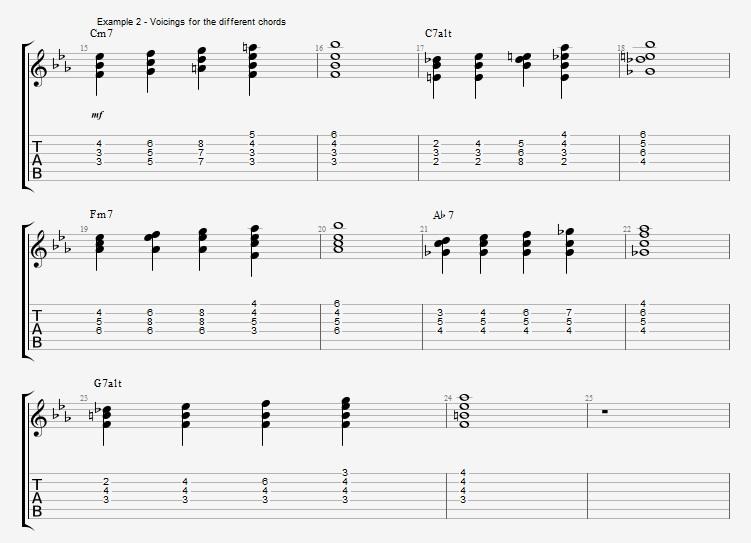 Minor Blues Comping - ex 2