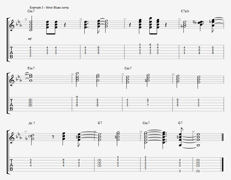 Minor Blues Comping - ex 3