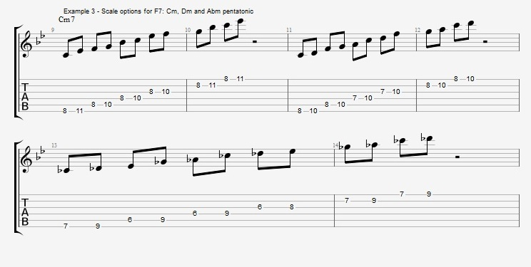 Pentatonics part 2 - II V progressions - ex 3