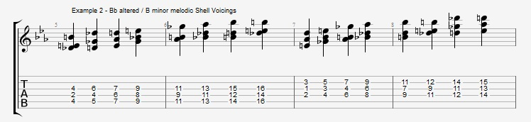 Shell Voicings as Arpeggios - ex 2