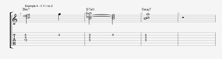 Jazz Chord Essentials - 3 note 7th chords part 2 - ex 4