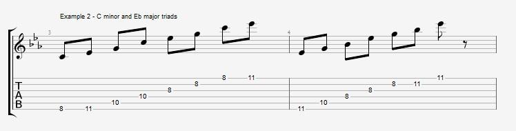 Pentatonics part 3 - Arpeggios and Melodic ideas - ex 2