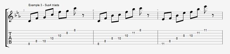 Pentatonics part 3 - Arpeggios and Melodic ideas - ex 3