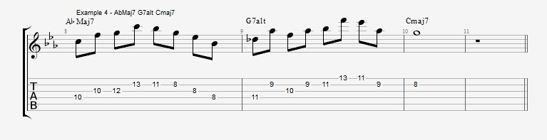 Pentatonics part 3 - Arpeggios and Melodic ideas - ex 4