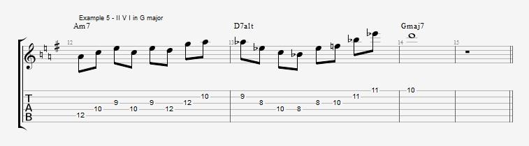 Pentatonics part 3 - Arpeggios and Melodic ideas - ex 5