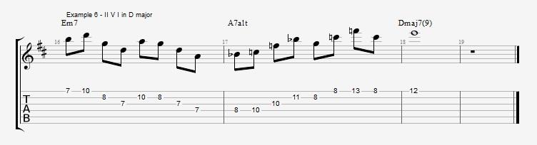 Pentatonics part 3 - Arpeggios and Melodic ideas - ex 6
