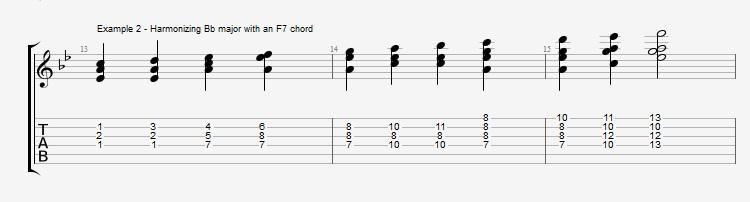 Jazz Blues Chord Solo - ex 2