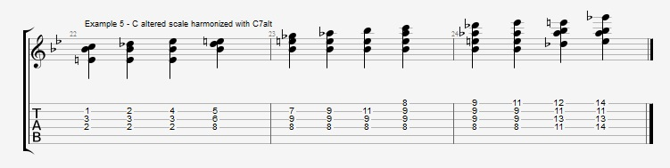 Jazz Blues Chord Solo - ex 5