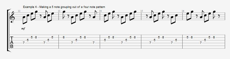 Making II V I lines with Odd Note Groupings ex 4