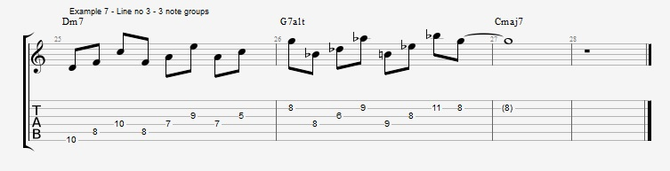 Making II V I lines with Odd Note Groupings ex 7