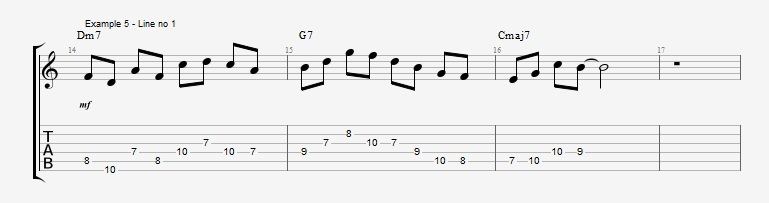 How to start soloing over a II V I with arpeggios - ex 5