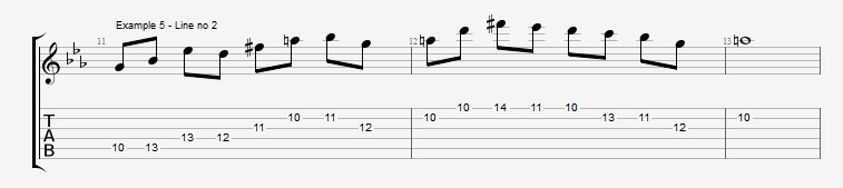 4th mode Harmonic Minor - ex 5