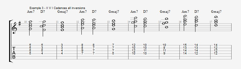Jazz Chord Essentials - Drop 2 voicings part 1 - ex 3