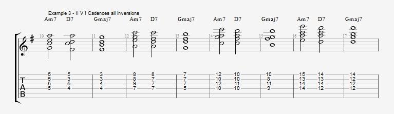 Jazz Chord Essentials - Drop 2 voicings part 1 - ex 3