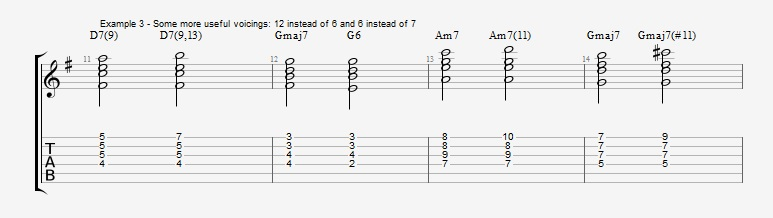 Jazz Chord Essentials - Drop 2 voicings part 2 ex 3