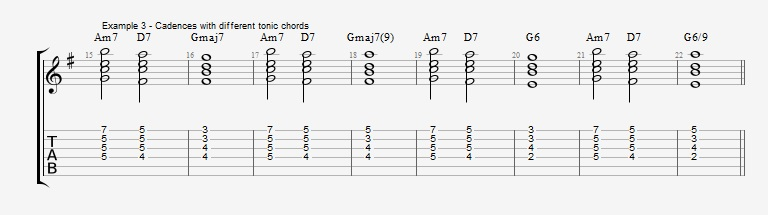 Jazz Chord Essentials - Drop 2 voicings part 2 ex 4