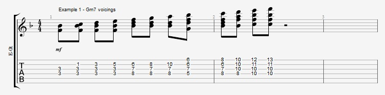 Adding Chords to Single Note Lines - Part 2 - ex 1